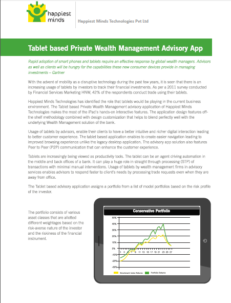 Tablet based Private Wealth Management Advisory App