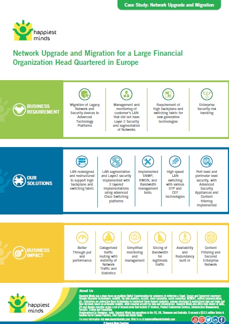 Network Upgrade and Migration for a Large Financial Organization Head Quartered in Europe