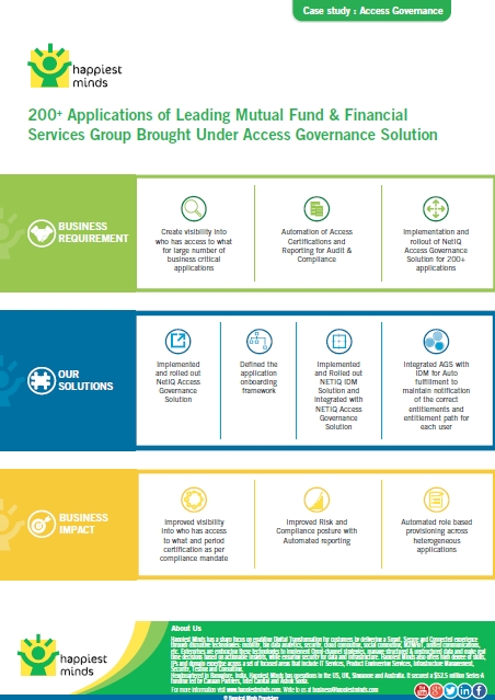 200+ Applications of Leading Mutual Fund & Financial Services Group Brought Under Access Governance Solution