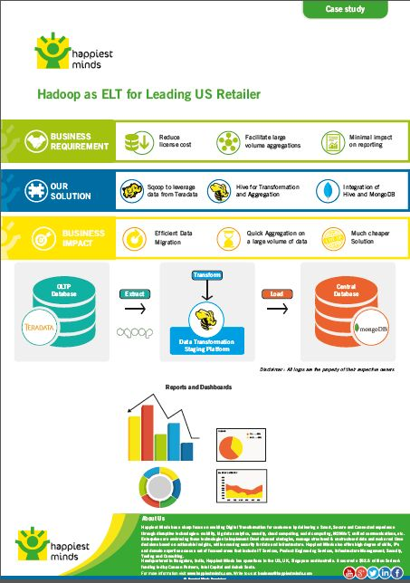 Hadoop as ELT for Leading US Retailer