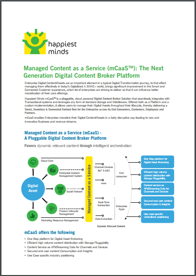 Managed Content as a Service (mCaaS): The Next Generation Digital Content Broker Platform
